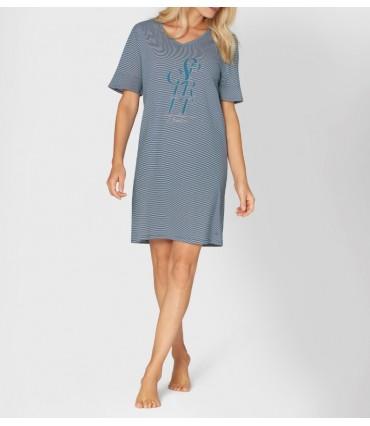 Νυχτικό Triumph Nightdresses NDK 10 Μπλε Ριγέ