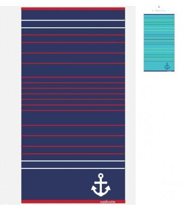 Πετσέτα Θαλάσσης Noidinotte Μπλε-Τιρκουάζ Ριγέ AE356