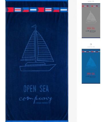Πετσέτα Θαλάσσης Noidinotte Μπλε-Γκρι-Γαλάζιο AE355