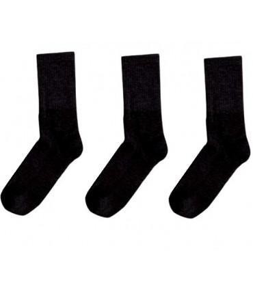 Ανδρική Αθλητική Μακριά Κάλτσα MeWe Μαύρη - 3 Ζευγάρια