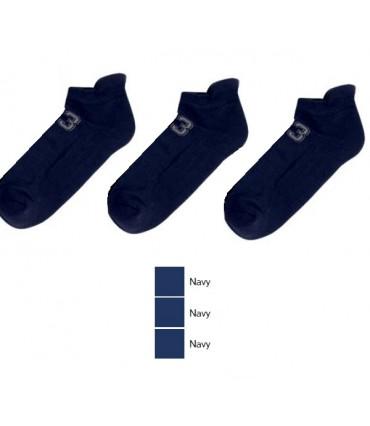 Ανδρική Αθλητική Κοντή Κάλτσα MeWe Μπλε - 3 Ζευγάρια