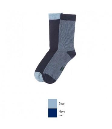 Ανδρική Μακριά Κάλτσα MeWe 2 Ζευγάρια (1 Μπλε & 1 Navy)